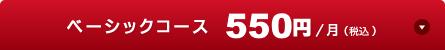 ベーシックコース 500円/月(税抜)